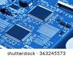 electronic circuit board close... | Shutterstock . vector #363245573