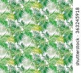 nature tropic leaves | Shutterstock .eps vector #363245918
