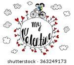 valentine's day poster   stick... | Shutterstock .eps vector #363249173