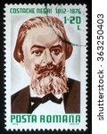 romania   circa 1976  a stamp... | Shutterstock . vector #363250403