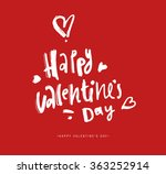 valentines day calligraphy... | Shutterstock .eps vector #363252914