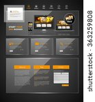 modern website design template. ... | Shutterstock .eps vector #363259808