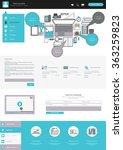 modern one page website design...