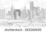 city scape | Shutterstock .eps vector #363260630