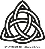 celtic knot with outlines | Shutterstock .eps vector #363265733