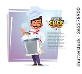 Chef With Pot In His Hand...