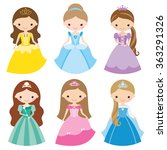 vector illustration of princess ... | Shutterstock .eps vector #363291326