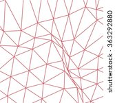 red polygonal structure | Shutterstock .eps vector #363292880