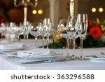 serving table prepared for... | Shutterstock . vector #363296588