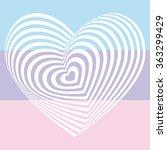 White Heart On Light Pink Aqua...