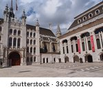 Small photo of LONDON - 2013: Guildhall dates from the 1400s and for hundreds of years was the administrative center of the City before it was amalgamated with the surrounding boroughs, as seen in London in 2013.