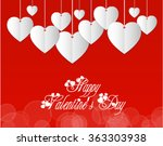 beautiful white vectoral hearts ... | Shutterstock .eps vector #363303938