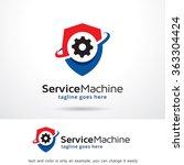 service machine logo template... | Shutterstock .eps vector #363304424