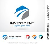 investment logo template design ... | Shutterstock .eps vector #363304544
