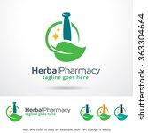 herbal pharmacy logo template... | Shutterstock .eps vector #363304664