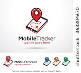 mobile tracker logo template...