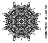 vector stylish floral arabic... | Shutterstock .eps vector #363305489