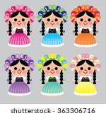 mexican dolls | Shutterstock .eps vector #363306716