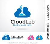 cloud lab logo template design... | Shutterstock .eps vector #363309098