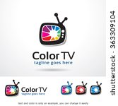 color tv logo template design... | Shutterstock .eps vector #363309104