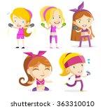 fitness girls | Shutterstock .eps vector #363310010