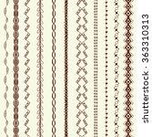 hand drawn art line border set... | Shutterstock .eps vector #363310313