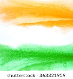 painted indian flag colors.... | Shutterstock . vector #363321959