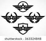 military star symbol variation... | Shutterstock .eps vector #363324848