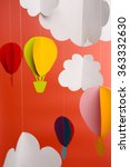 paper clouds and airship on... | Shutterstock . vector #363332630
