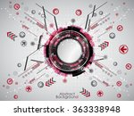 abstract red technology... | Shutterstock .eps vector #363338948