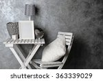 home decor on table on grey... | Shutterstock . vector #363339029