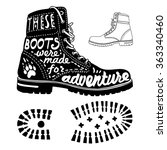 "vector poster ""these boots were ... 