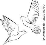 doves | Shutterstock .eps vector #363340790