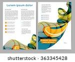 abstract color brochure... | Shutterstock .eps vector #363345428
