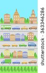 cars set and buildings | Shutterstock .eps vector #363346286