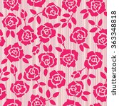 retro floral seamless... | Shutterstock .eps vector #363348818