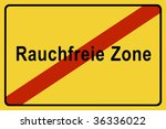 symbol sign smokefree zone | Shutterstock . vector #36336022