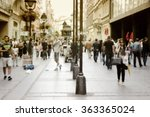 busy european street. people... | Shutterstock . vector #363365024