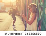 urban couple outdoors. | Shutterstock . vector #363366890