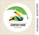toucan. toucan tans on the... | Shutterstock .eps vector #363367094