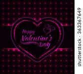 happy valentines day pink... | Shutterstock . vector #363367649