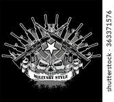 Military Grunge Skull Coat Of...