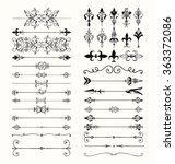 set of hand drawn black doodle... | Shutterstock .eps vector #363372086