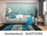 interior with sofa. 3d... | Shutterstock . vector #363372398