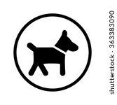 dog icon | Shutterstock .eps vector #363383090