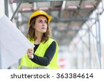 female construction site... | Shutterstock . vector #363384614