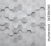Brushed Metal Hexagon Background