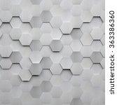 brushed metal hexagon background | Shutterstock . vector #363386360