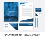 corporate identity template | Shutterstock .eps vector #363389684