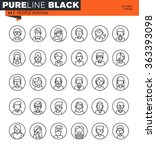 thin line icons set of people... | Shutterstock .eps vector #363393098
